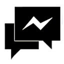 Black Facebook Messenger Icon Png image #11625
