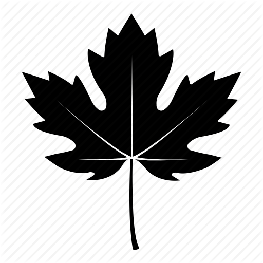 black fall leaves icon
