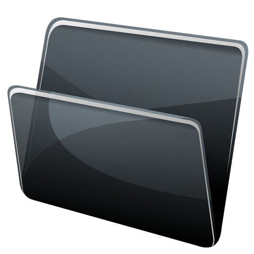 black folder, directory icon png