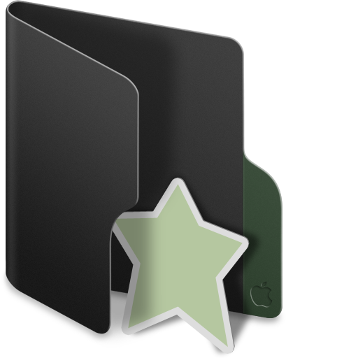 Black, Folder, Favourite Icon image #39698