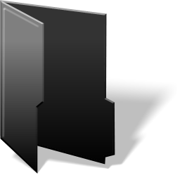 black folder full icon png