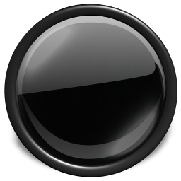 Black Glossy Button Icon Png image #21059
