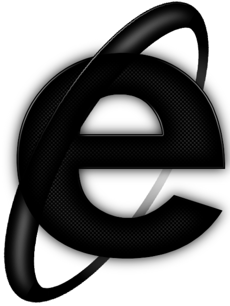 Black Internet Explorer Icon image #11193