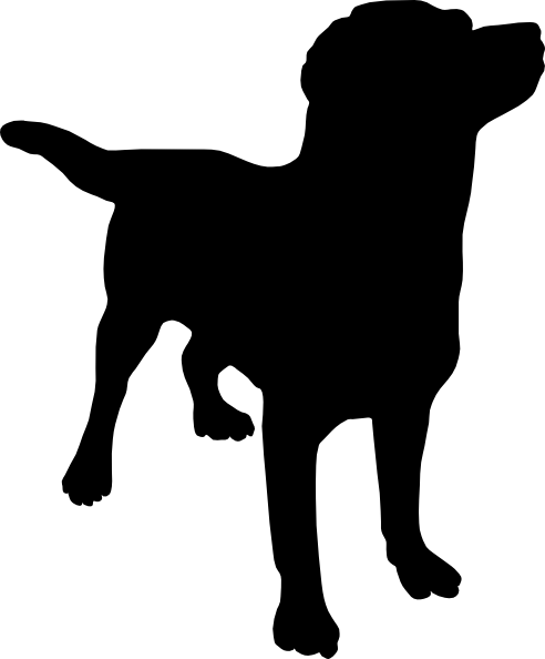 Black Lab Silo Clip Art , royalty