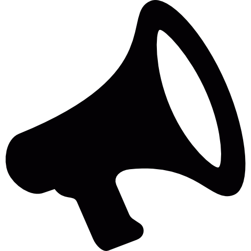 Black Megaphone Vector Save Icon Format
