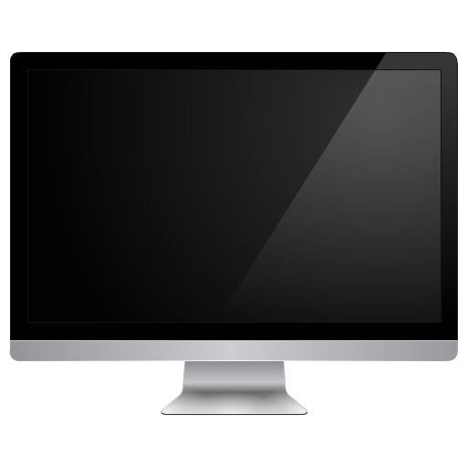 Black Monitor, Apple, Computer PNG Icon image #45247