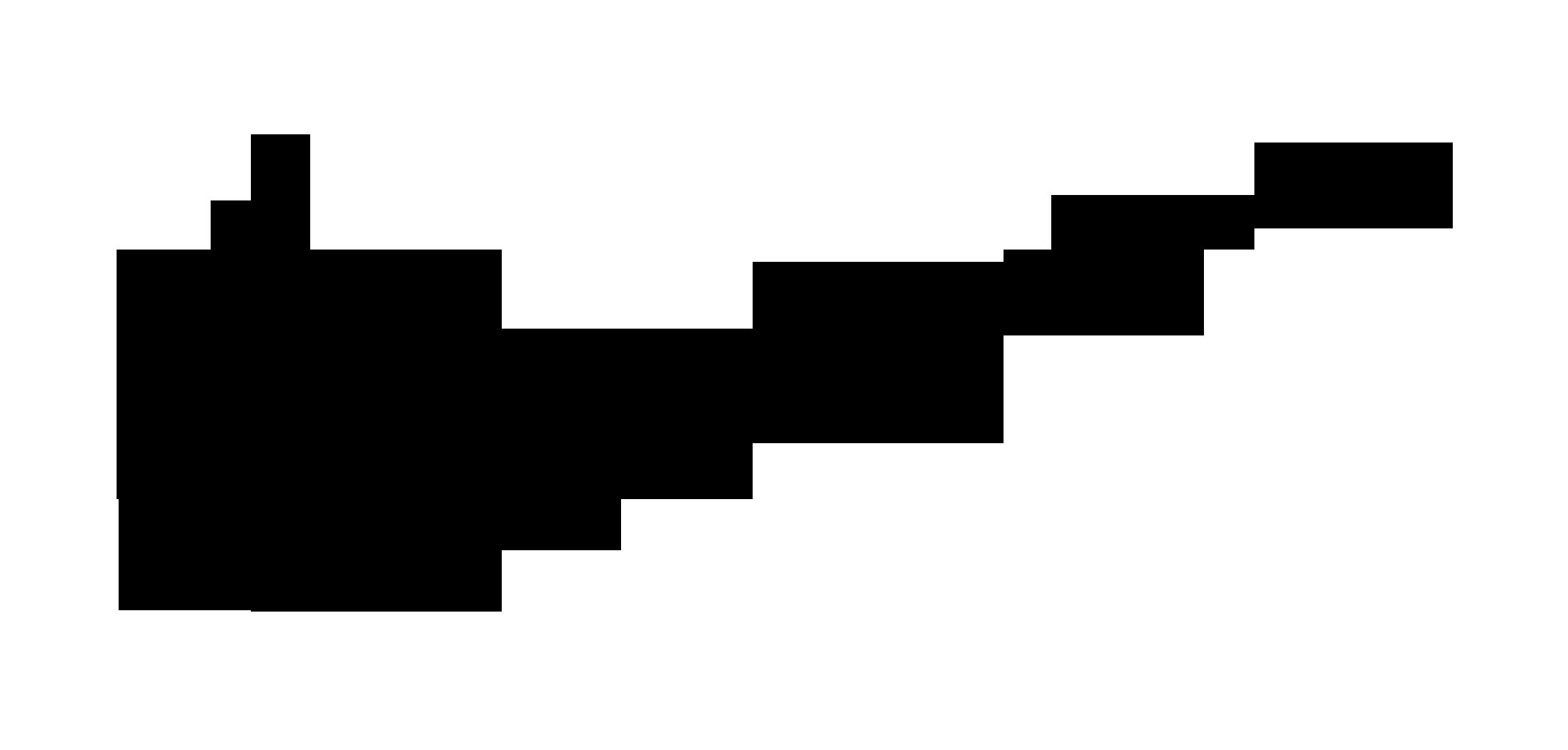 Black Nike Icon on white background