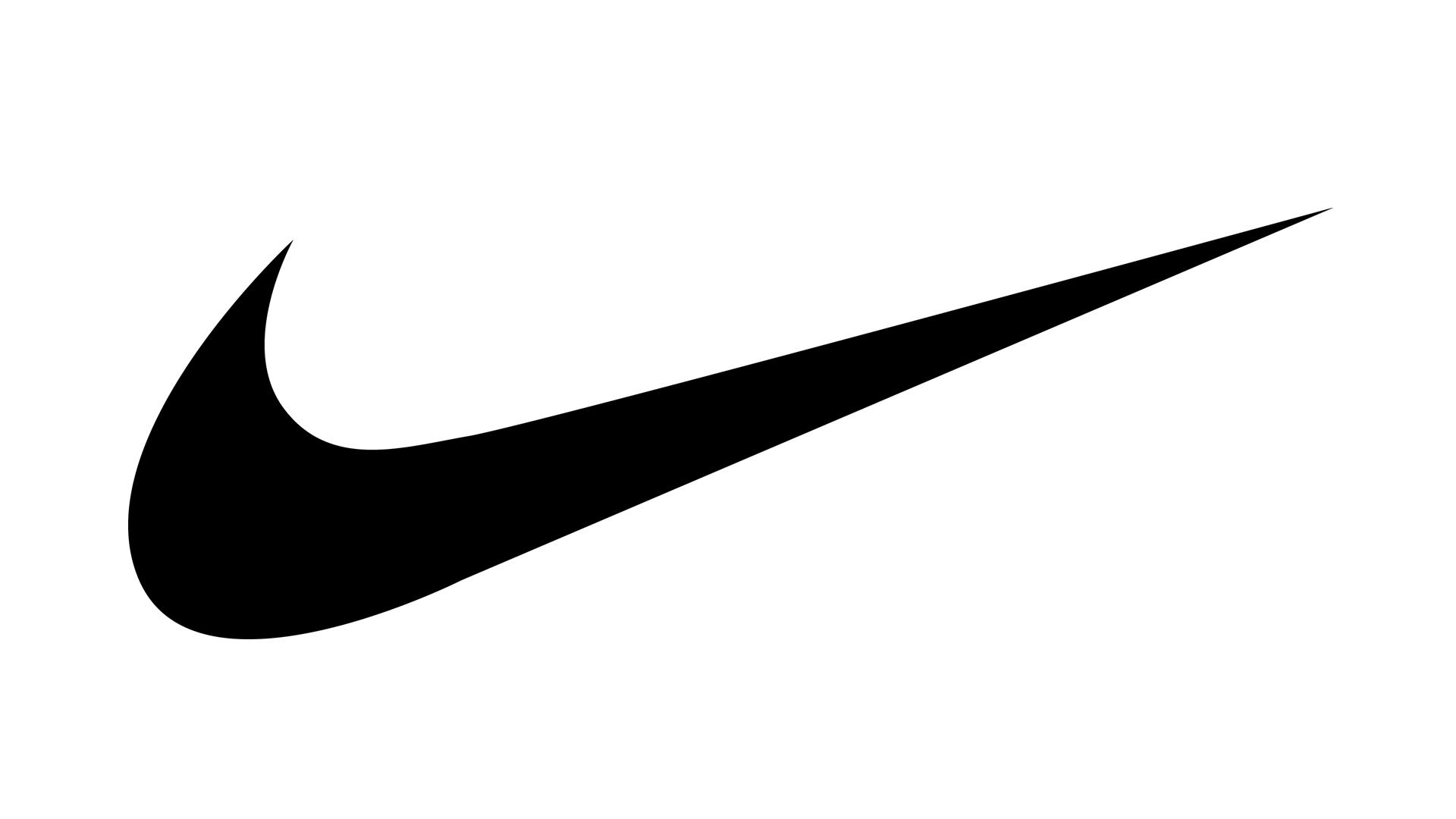 black nike logo no background