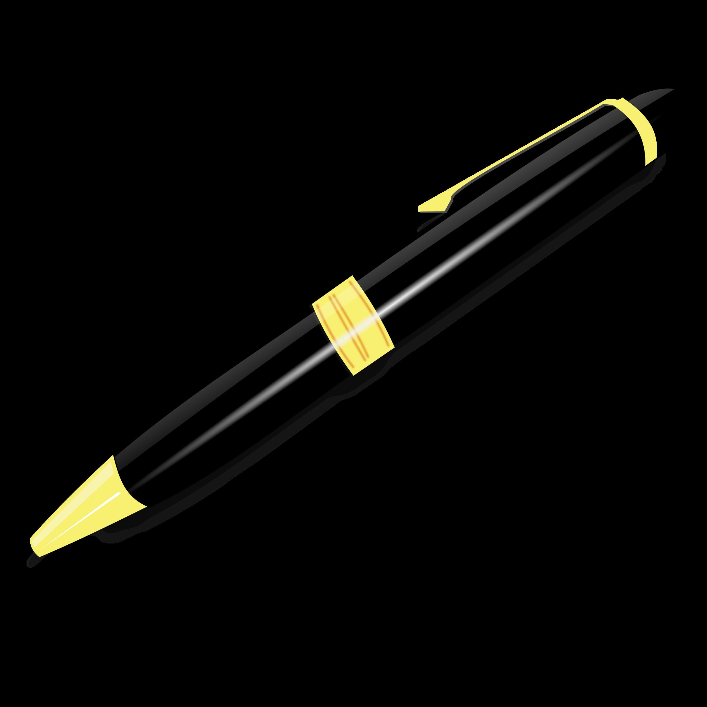 Black Pen PNG Transparent