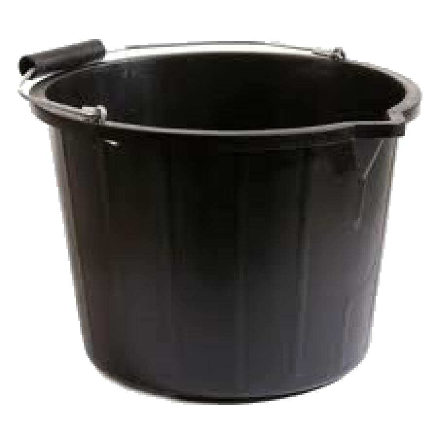 Black plastic bucket picture