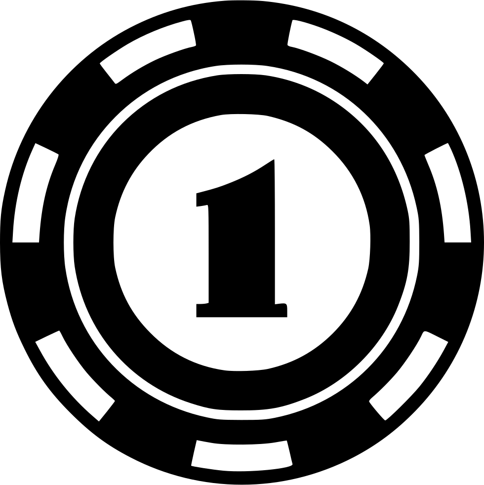 Black poker chips one icon