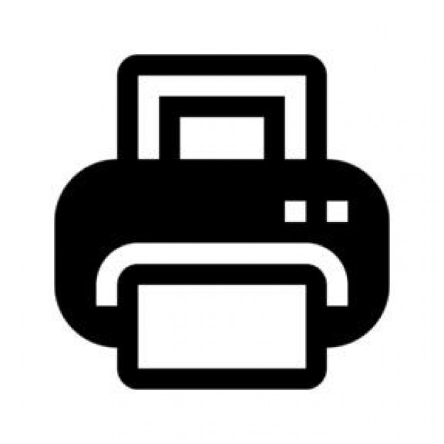 Black Printer Icons | Free Download image #1010