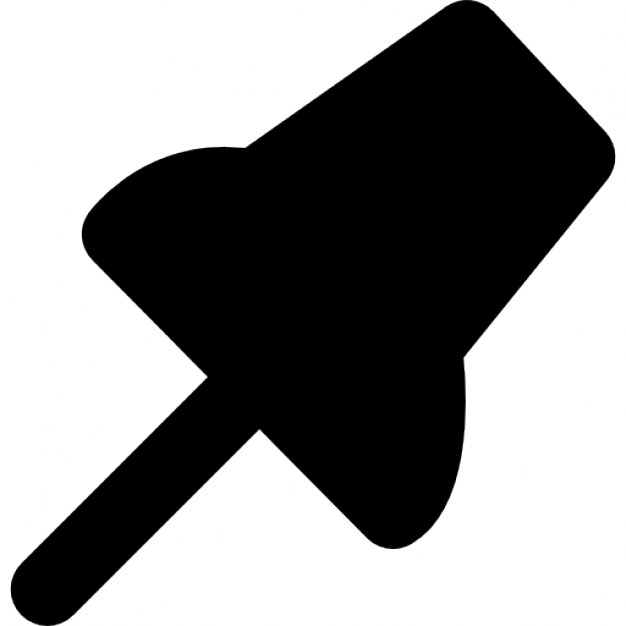 Black Push Pin Icon image #17894