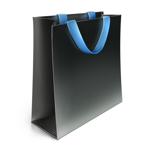Black Shopping Bag Icon image #10476