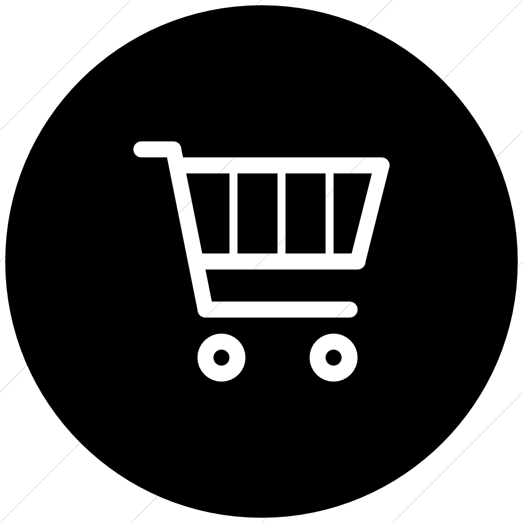 black shopping cart icon