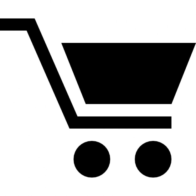 Black Shopping Cart Icon image #28354