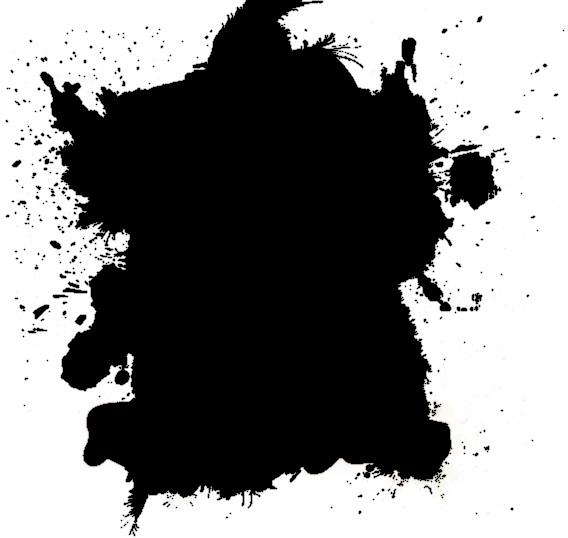 black splat png