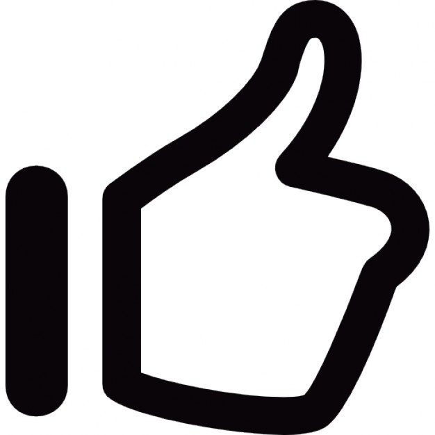 black thumbs up icon