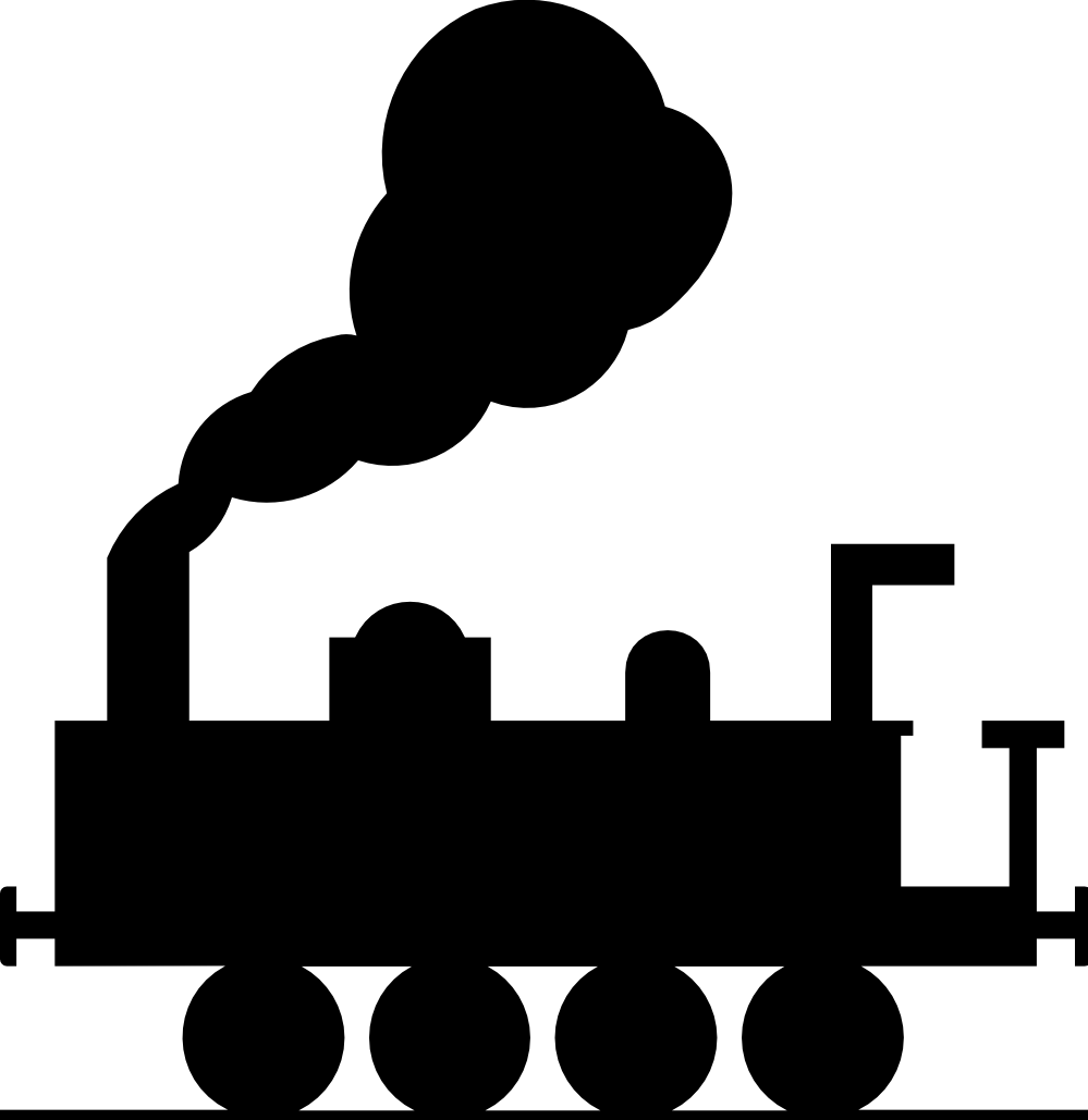 black toy train png