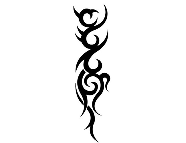 Black Tribal Tattoos Png image #19366