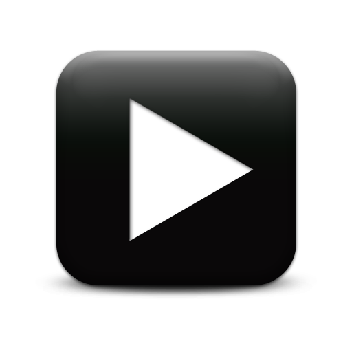 Black Video Play Icon image #8032