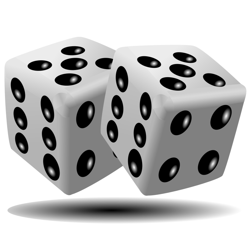 Black White Dice Png image #27647