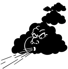 Black Windy Png image #25286