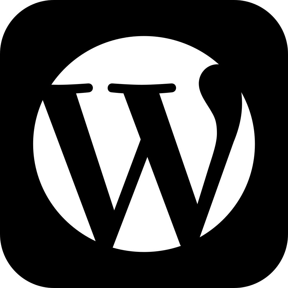 Black Wordpress emblem icon