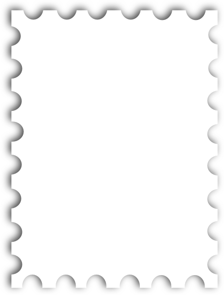 Blank Postage Stamp Png image #24409