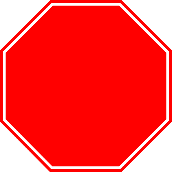 Blank Stop Sign Png image #27208