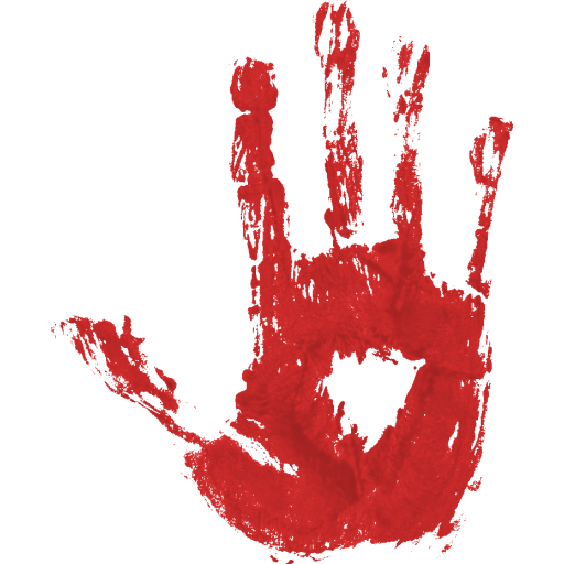 bloody hand png