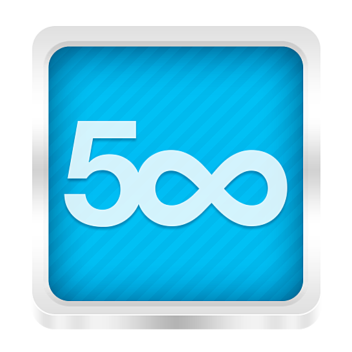 blue 500px icon png