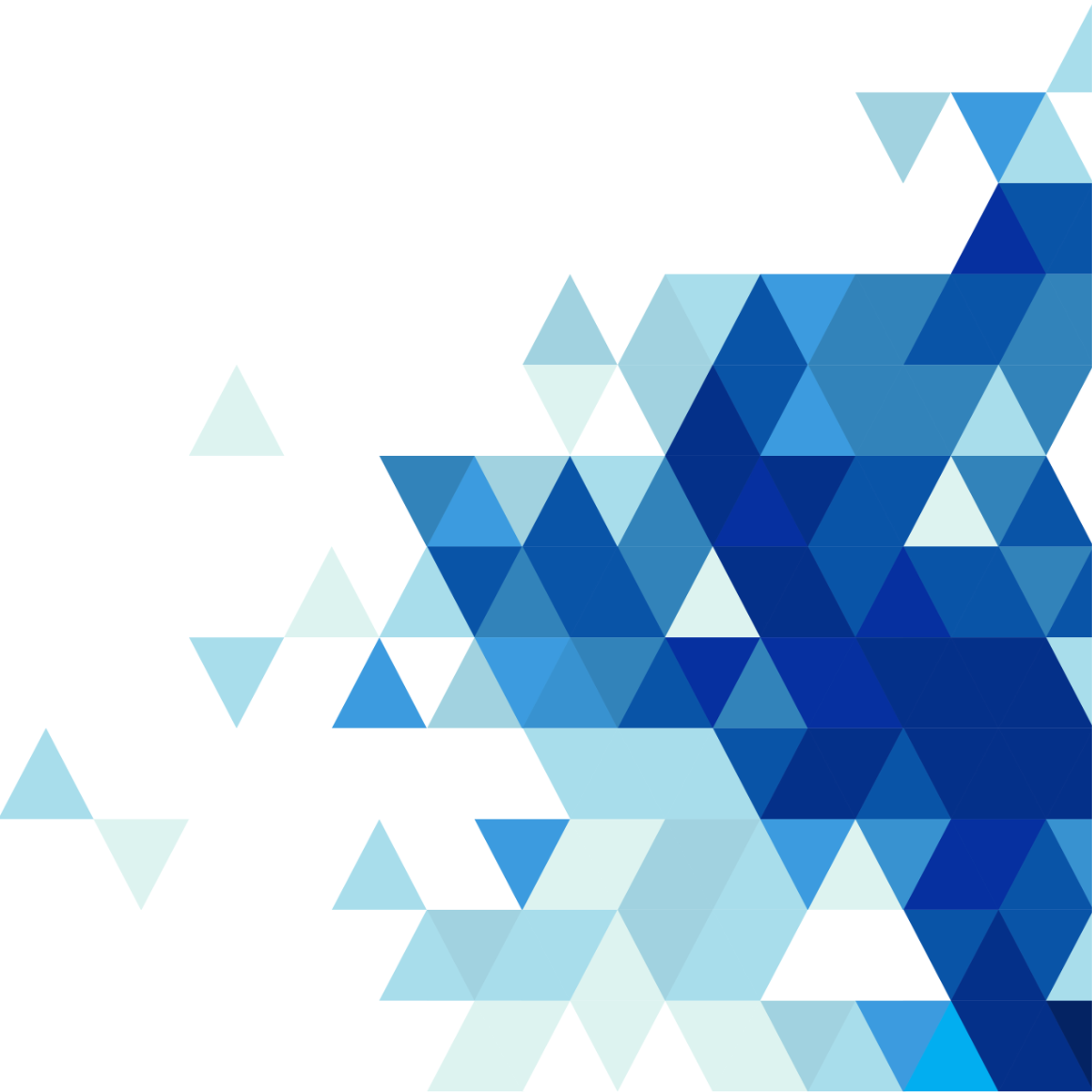 blue abstract triangles png picture  46467