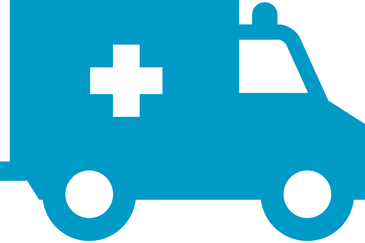 Blue Ambulance Icon image #29978