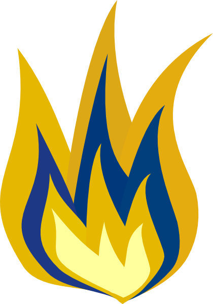 Blue And Yellow Fire Png image #15113