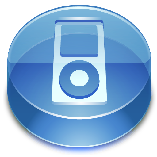 Blue Apple iPod Icon