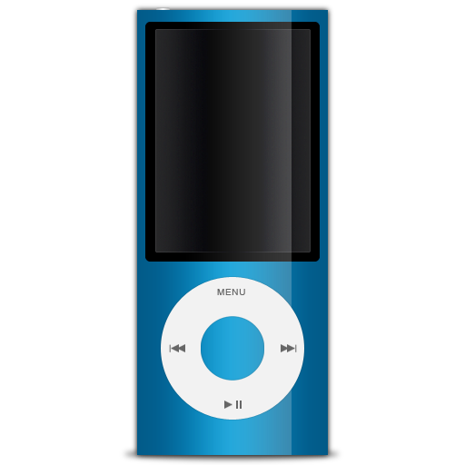 Blue Apple IPod  Icon image #28946