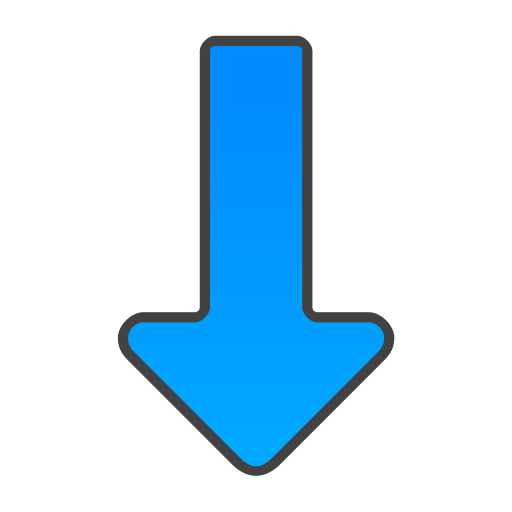 Blue Arrow Down Icon Png image #6694