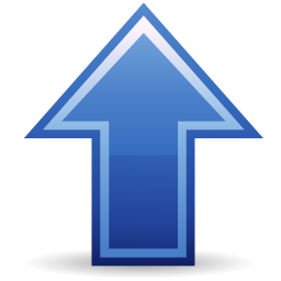 Blue Arrow Up Icon image #29570