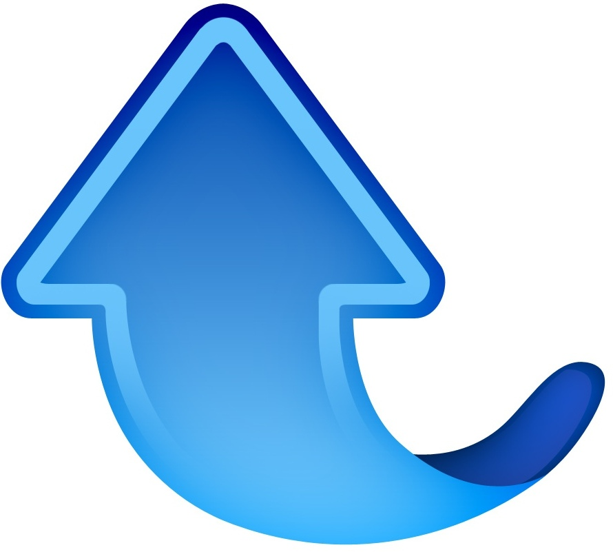 Blue Arrow Up Icon image #29563