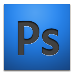 blue background with adobe photoshop icon