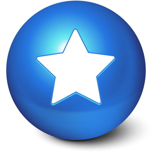 blue, ball, white, star, favourite icon