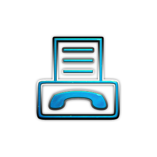 Blue Business Fax Icon image #4917