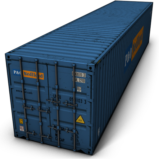Blue Cargo Container Icon image #31765