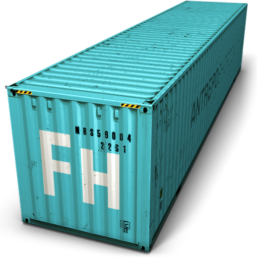 Blue Cargo Container Icon image #31769