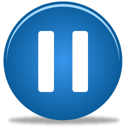 Blue Circle Pause Icon 256x256, Pause HD PNG Download