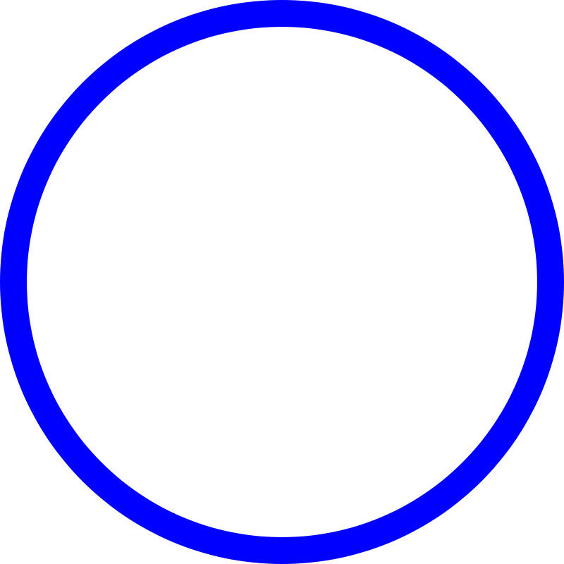 simple blue circle png