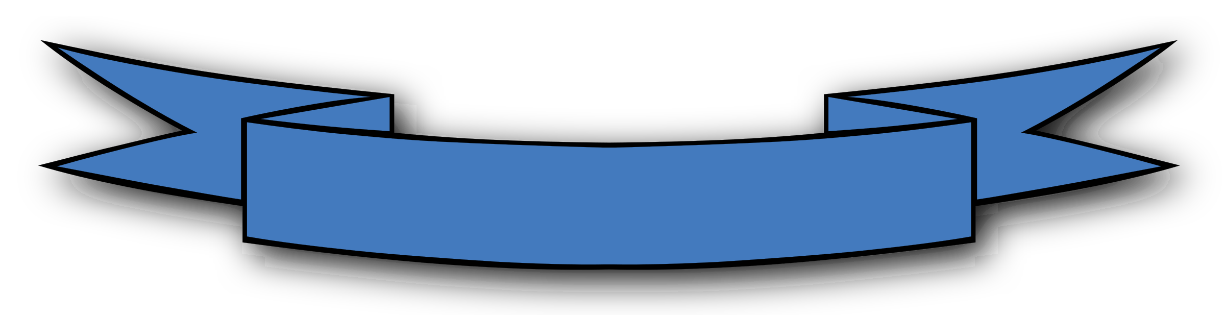 blue clipart ribbon banner