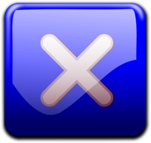 Blue Close Button Png image #30247