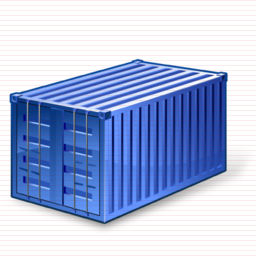 Blue Container Icon image #31770